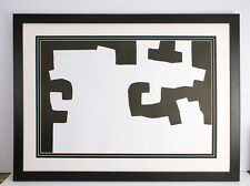 """LOOK CHILLIDA 1973 Original Lithograph """"Abstract Composition"""" GALLERY FRAMED COA"""
