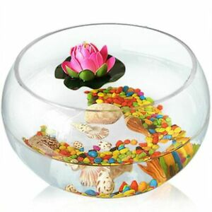 Round Cylinder Aquarium 20/25cm Glass Large Fish Bowl Tank Hydroponic Plant Vase