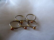 Handmade sterling Silver and 9ct Rose Gold/yellow gold ring - stacking rings