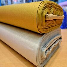 Metallic GOLD & SILVER 100% Cotton Fabric Printed Extra Craft FREE P&P