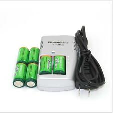 6 X 1350mAh  Etinesan 3v CR123A rechargeable LiFePO4 battery with CR123A charger