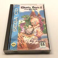 Chuck Chuck II 2 Son of Chuck (Sega CD, 1993) Complete CIB Long Box