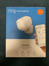 Ring Smart Lighting Battery-Powered 400-Lumen LED Smart Spotlight, White