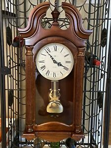 HOWARD MILLER Everett 625-253 Chiming Wall Clock Windsor Cherry $547