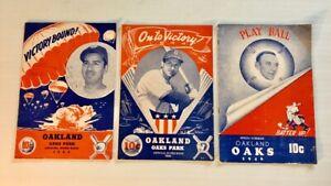 1944 / 1945 / 1946 Oakland Oaks & San Francisco Seals Score Books Signed!⭐️
