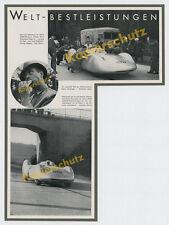 AUTO UNION Rosemeyer Reichsautobahn Rennwagen Typ C Silberpfeil Stromlinie 1937
