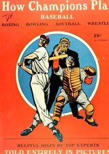 1948 How Champions Play Baseball Comic Book - Powell Art - Street & Smith