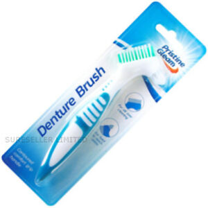EASY GRIP Denture Cleaning Brush Oral Care Double Sided Toothbrush Dental Teeth