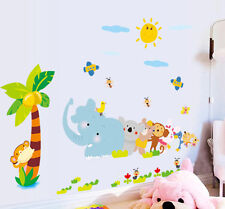 Jungle Animals Removable Wall Sticker Decals for Baby Nursery Room Kids Bedroom