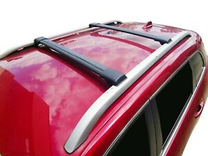 Aerodynamic Alloy Roof Rack Cross Bar for Jeep Cherokee 2014-20 Matt Black