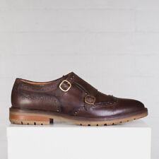 Massimo Dutti Shoes Size 11 Men Brown Double Monk Wingtip