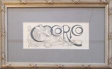 1899 Original Framed Cocorico Masthead - Mucha