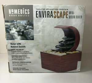 New Homedics Envirascape Relaxation Fountain- Mini Moon River