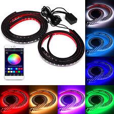 "36""/48"" 4x 8 Color LED RGB Strip Under Car Tube Underbody System Neon Lights Kit"