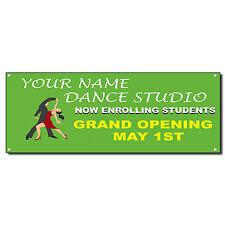 Dance Studio Now Enrolling Grand Opening Custom Banner Sign Grommets 2 ft x 4 ft