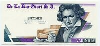 De La Rue Giori Specimen Test Trial UNC Banknote Beethoven Varinota Uniface #3