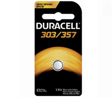 Duracell LR44 SR44 303 357 76A EPX76 SILVER OXIDE BUTTON CELL BATTERY 165mA 1.5V