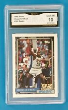 New listing Shaquille O'Neal Topps 1992 RC Rookie Card Draft Pick #362 GMA 10 GEM MINT Shaq