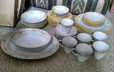 NORITAKE CHORUS DISH SET SERVICE FOR 6 INCLUDES 42 PIECES + Storage Bags