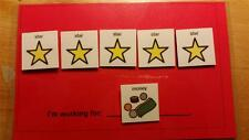 30 STAR Token Economy System ABA Behavior Visuals Reinforcer for Autism, ADD