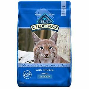 Blue Buffalo Wilderness High Protein Natural Adult Indoor Dry Cat Food Chicke...