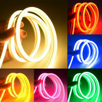 Waterproof 1-5m LED Strip Lights Neon Lamp 12V Flexible Fairy Rope Light Outdoor