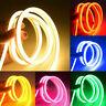 Waterproof 1-5m LED Strip Lights Neon Lamp 12V Flexible Fairy Rope Light Outdoor