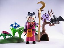PLAYMOBIL VINTAGE 3944 DRUID MAGIC WOLF HEAD/CLOAK TREE FACE-COMPLETE-EXCELLENT
