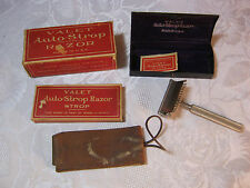 VALET AUTO STROP RAZOR  WITH CASE BOX  AND STROP  ANTIQUE  SHAVING   T*