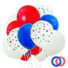 Patriotic Decorations Red White and Blue Balloons 4th of July Party Supplies ...