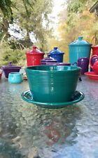 Flower Pot Planter & Tray Base evergreen Fiesta Ware