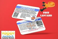 More details for assistance dog law card with qr code-free lanyard-free uk post