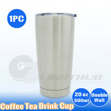 Double Wall Coffee Tea Cup Home Office Car Travel Stainless Steel Water Bottle