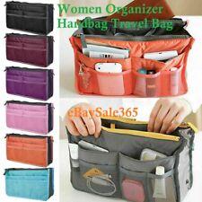 UK Women Organizer Handbag Travel Bag Insert Liner Purse Large Tidy Pouch Tote