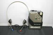 Vintage SONY WM-2 Stereo Walkman Cassette Player With MDR-W3 Headphones LOOK!!!!