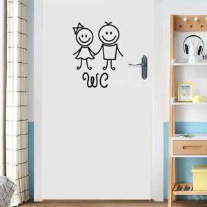 Wall Sticker Decal Mural Decor Art WC Toilet Set Bathroom Disney Door Bedrooms