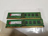 x2 Kingston 8GB(1x8GB) KVR16N11H/8 DDR3-1600 1.5v Desktop Ram