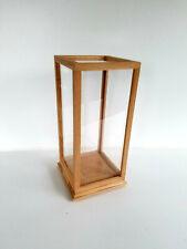 Solid Oak Wood Handmade Display Case 10 Length x 10 Width x 18 Height