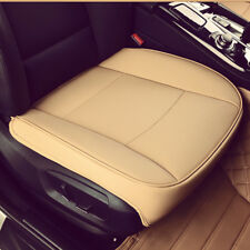 Hot! 3D PU Leather Charcoal Car Vehicle Seat Cover Protector Cushion Mat Beige