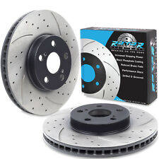 REAR DRILLED GROOVED 345mm BRAKE DISC PAIR FOR BMW 1 SERIES F20 F21 M 135i 11+