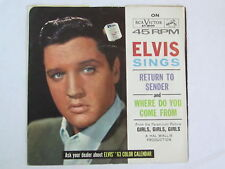 Elvis record & Sleeve, Return To Sender, RCA # 47-8100