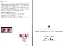Ministerkarte 14.9.73 100.Geburtstag Otto Wels (mehrfach MiNr.780)