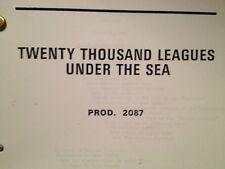 Twenty Thousand Leagues Under The Sea Disney Script
