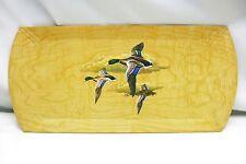 Hasko SERVING TRAY MALLARDS DUCKS IN FLIGHT Vintage Lithographed Wood Veneer