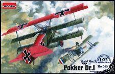 FOKKER Dr.I (RED BARON - RICHTHOFEN, NECKEL, RABEN, JACOBS MKGS) 1/72 RODEN