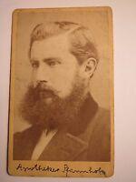 Göttingen - Apotheker Pfannholz als Mann mit Bart - Portrait / CDV