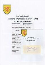 RICHARD GOUGH SCOTLAND INT 1983-1993 ORIGINAL HAND SIGNED CUTTING/CARD