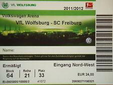 TICKET 2011/12 VfL Wolfsburg - SC Freiburg