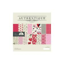 """Authentique Double-Sided Cardstock Pad 8""""X8"""" 24 Scrapbook craft papers LVN013"""