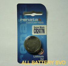 10 PCS BATTERIE RENATA, mod. CR 2477N 3V LITHIUM 950 mAh